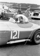 Jaguar C Type Duncan Hamilton Turnberry paddock June 1952.  photo